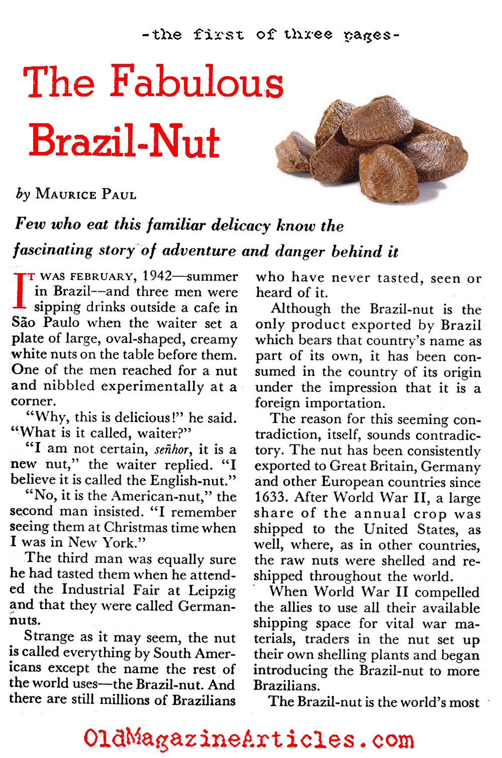 Brazil nut information brazil nut history article for Articles cuisine
