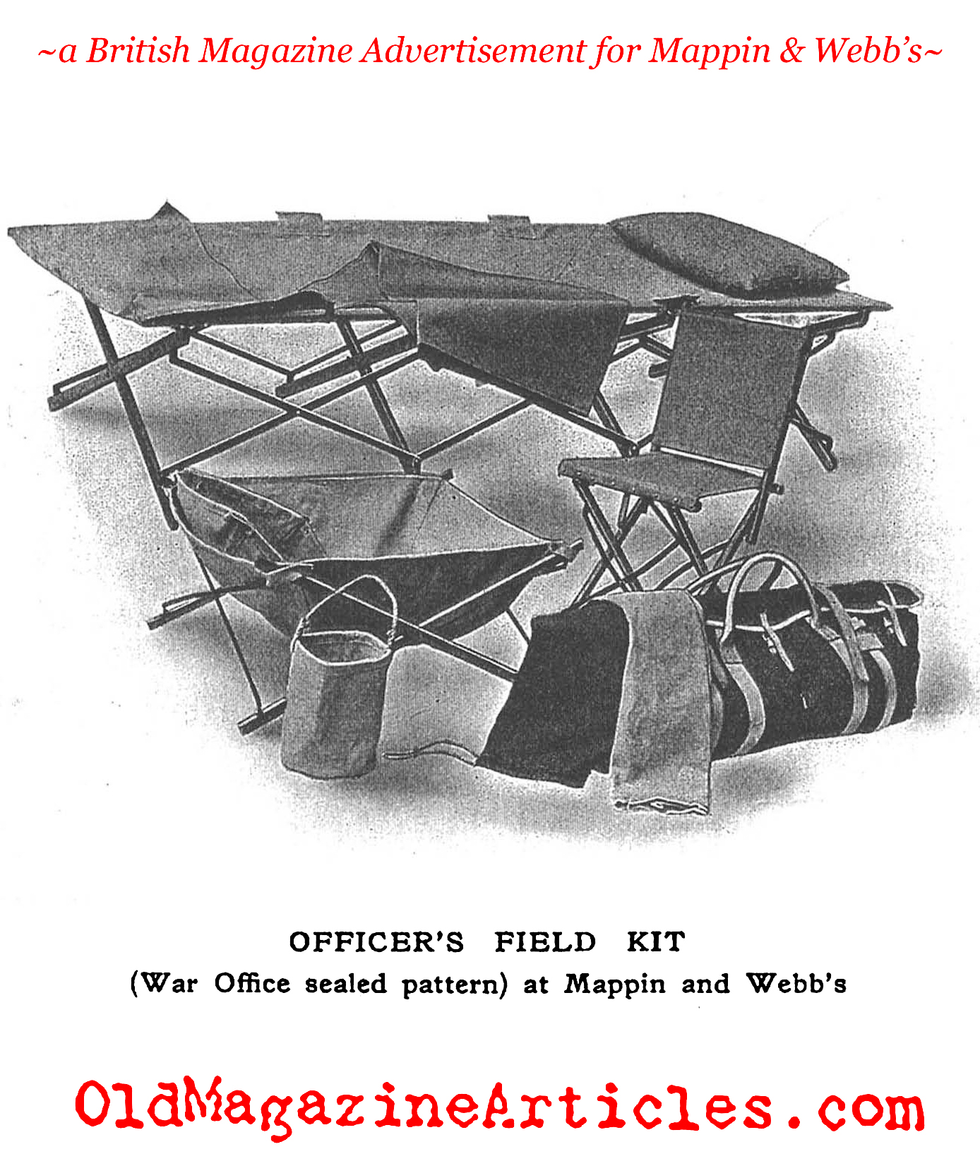 British Military Campaign Furniture  (Mappin and Webb, 1915)