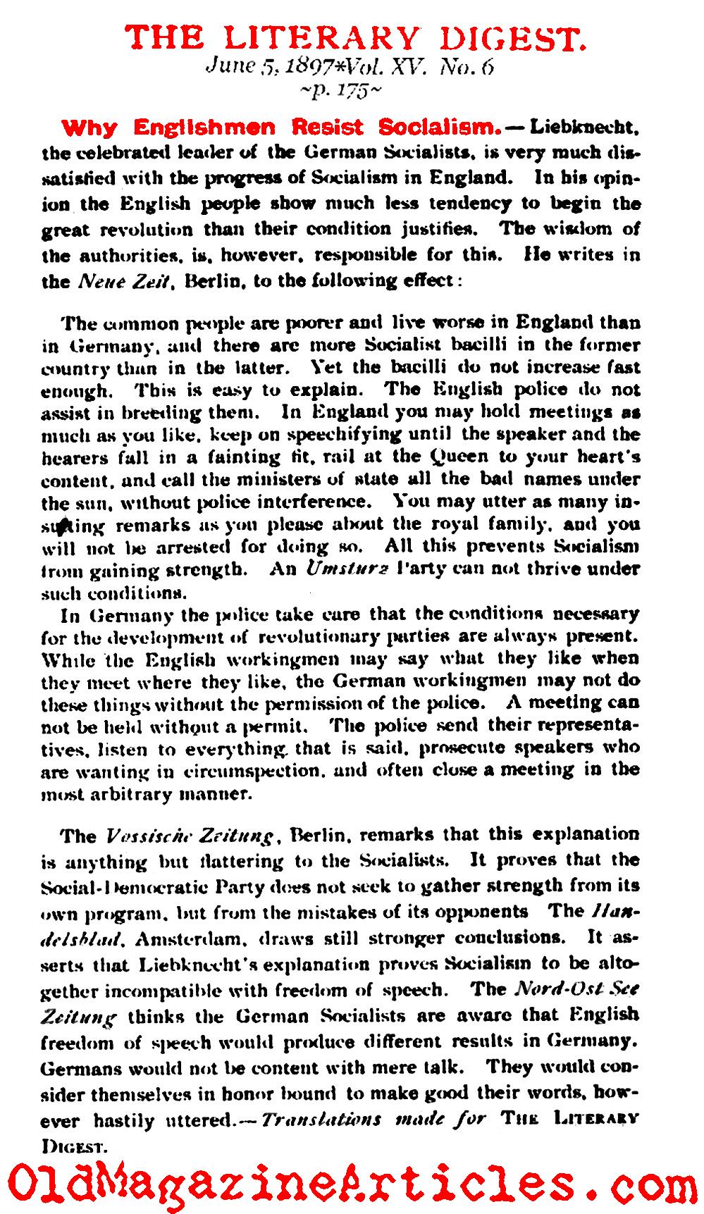 Karl Liebknecht On The Failures Of Socialism In Victorian England