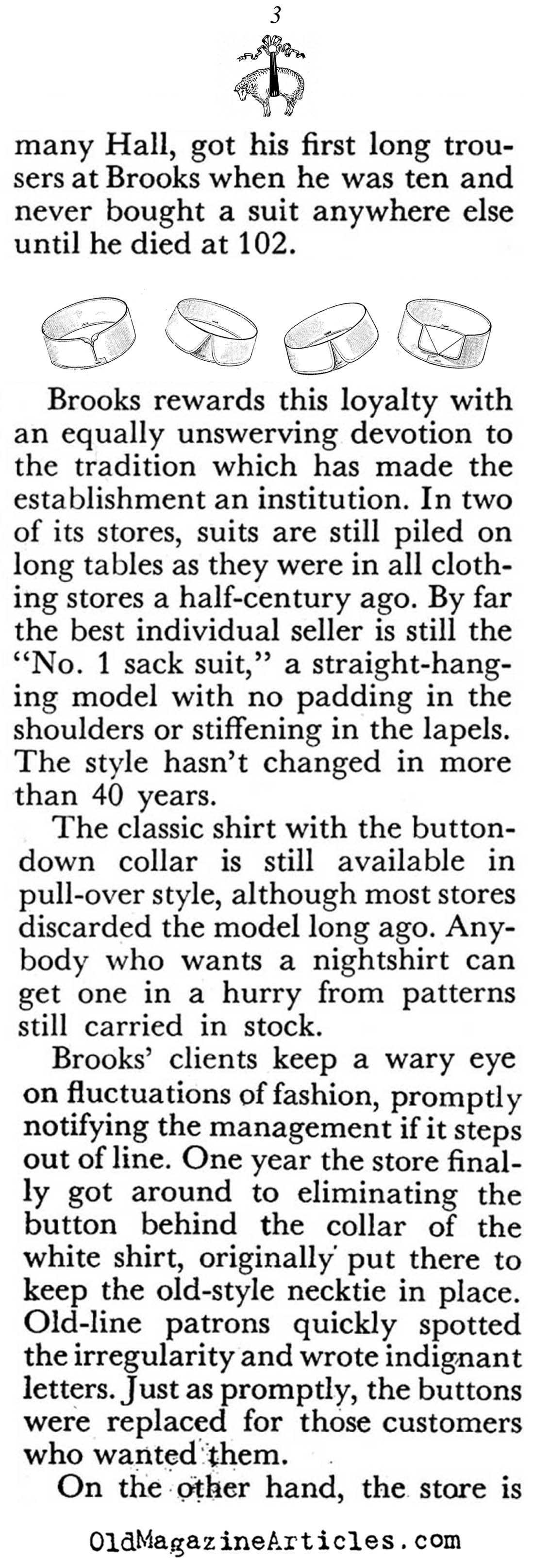 A History of Brooks Brothers (Coronet Magazine, 1950)