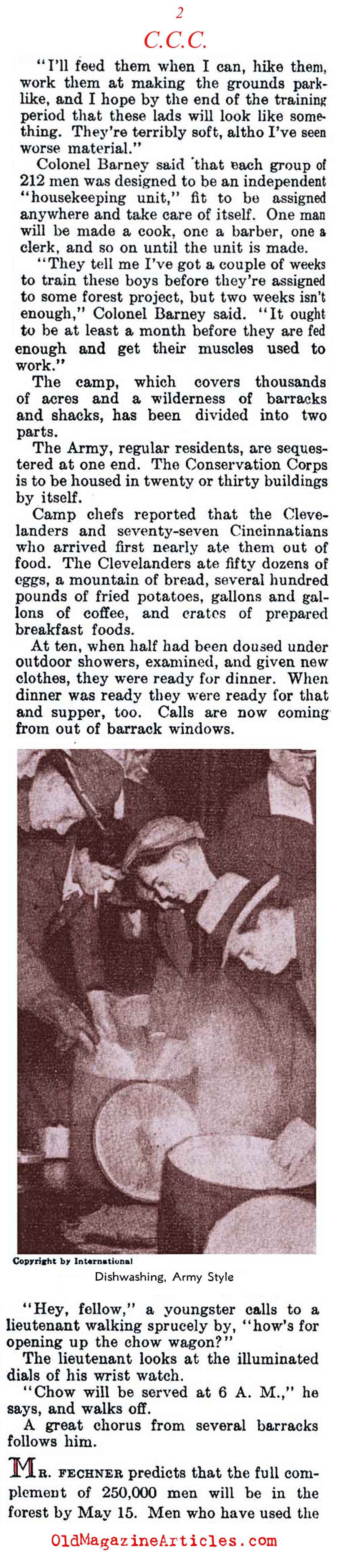 Public Relief for Young Men  (Literary Digest, 1933)