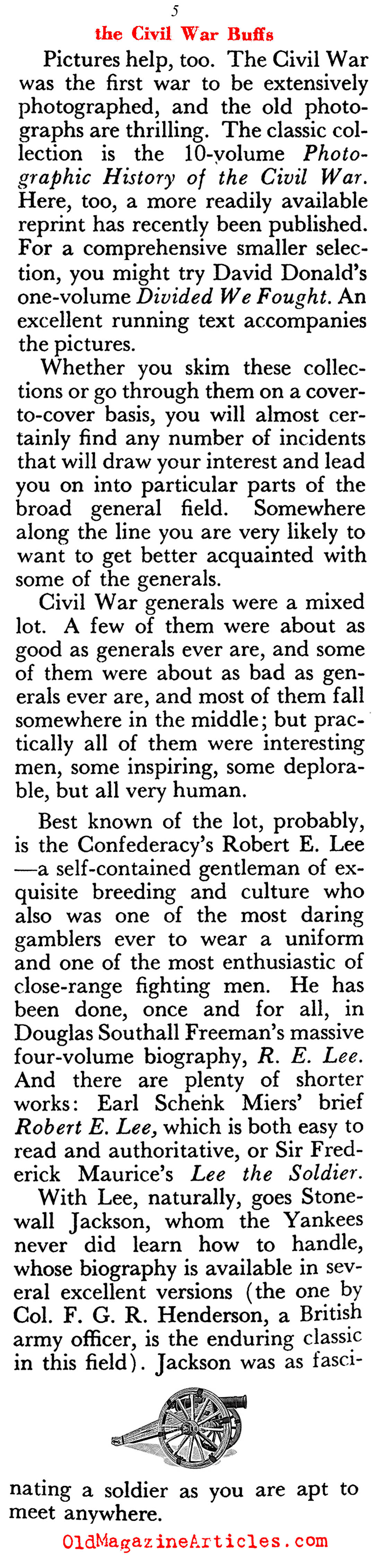 ''Beginner's Guide to the Civil War'' (Pageant Magazine, 1958)