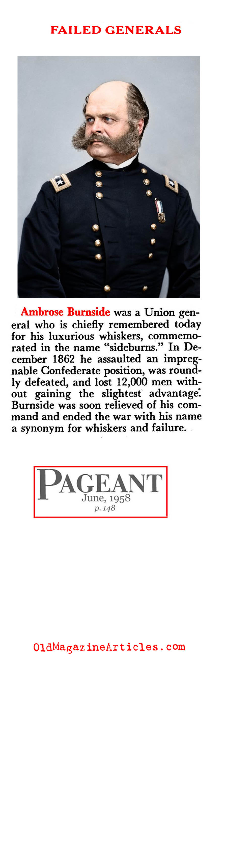 The Bad Generals (Pageant Magazine, 1958)