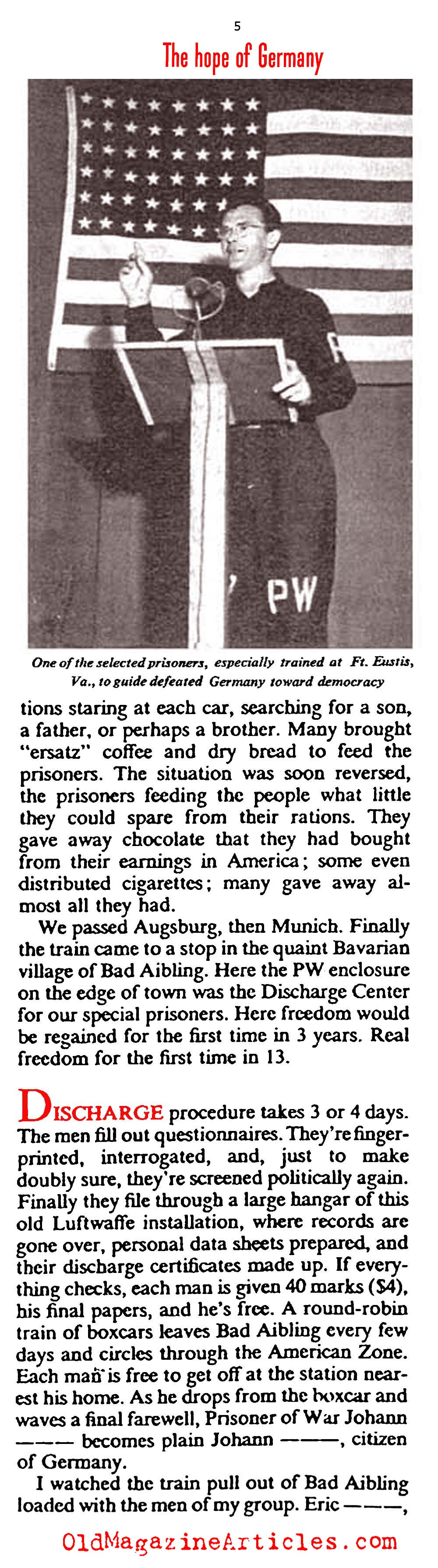 The Re-Education of German Prisoners of War (The American Magazine, 1946)