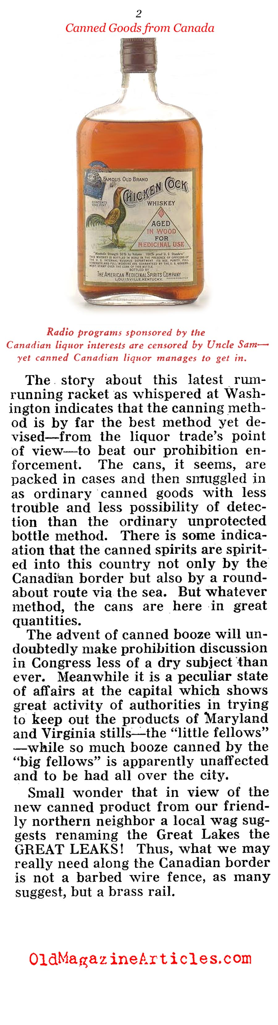 ''Canned Goods'' From Canada (Pathfinder Magazine, 1931)