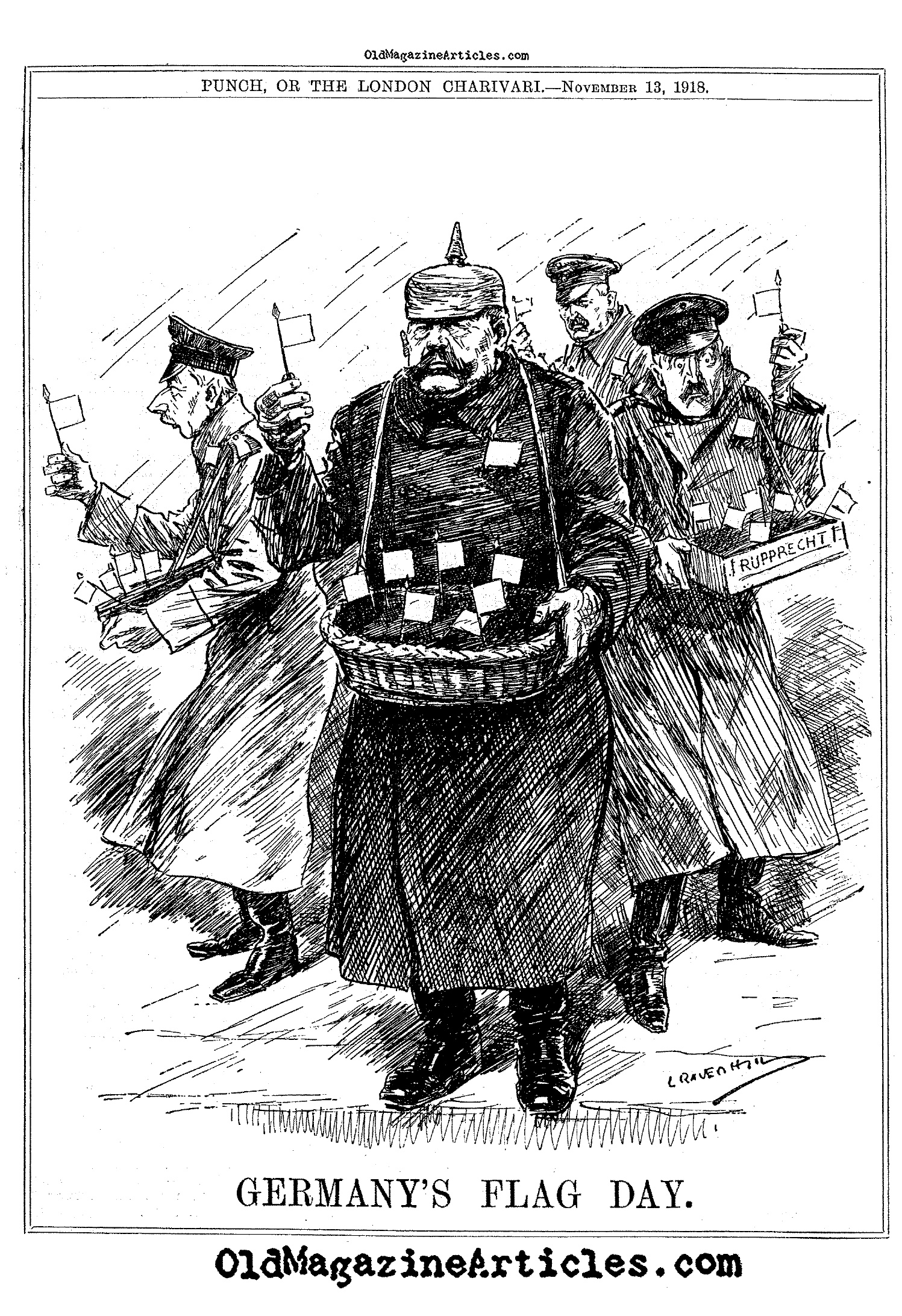 Flag Day in Germany  (Punch, 1918)