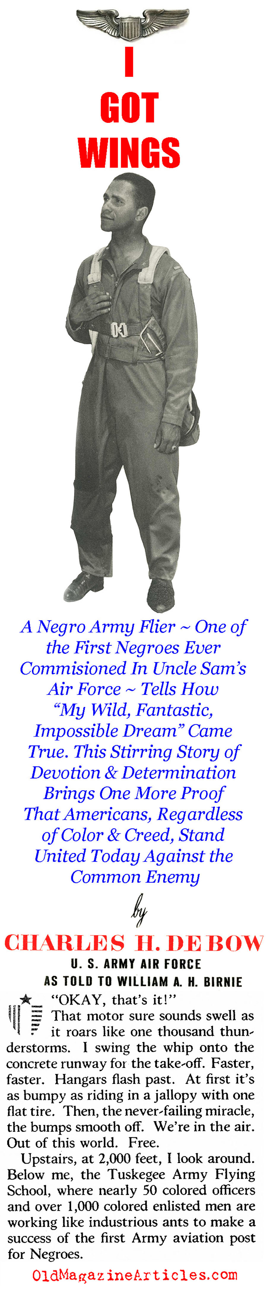The First Black Fighter Pilots (The American Magazine, 1942)
