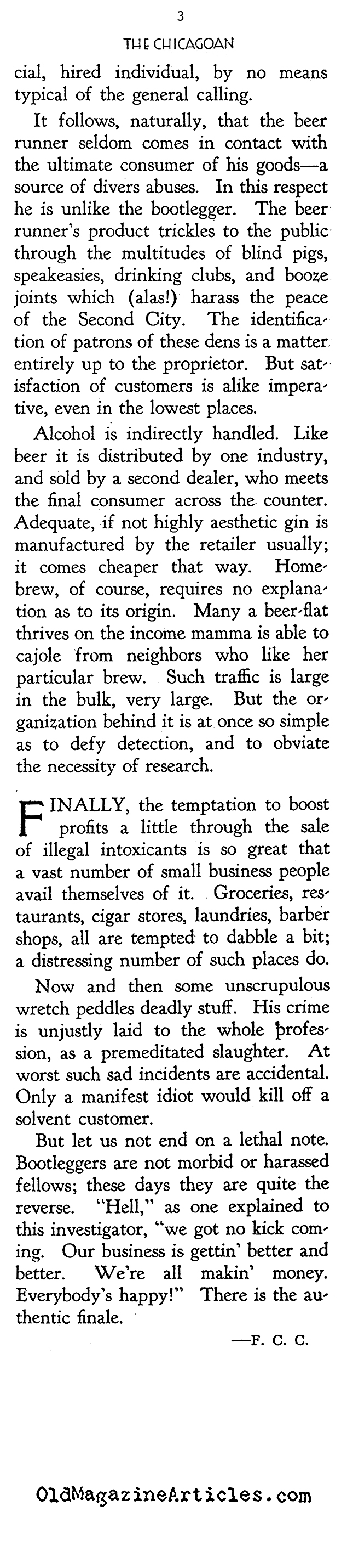 Prohibition - Chicago Style (The Chicagoan, 1927)