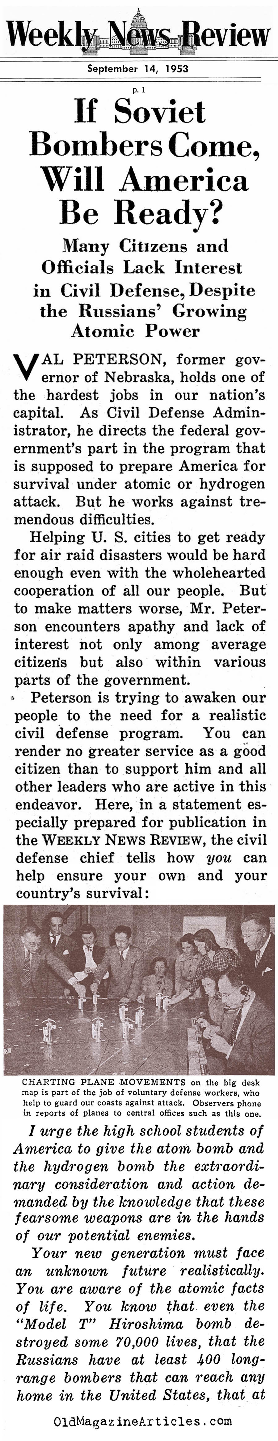 American Civil Defense (Weekly News Review, 1953)