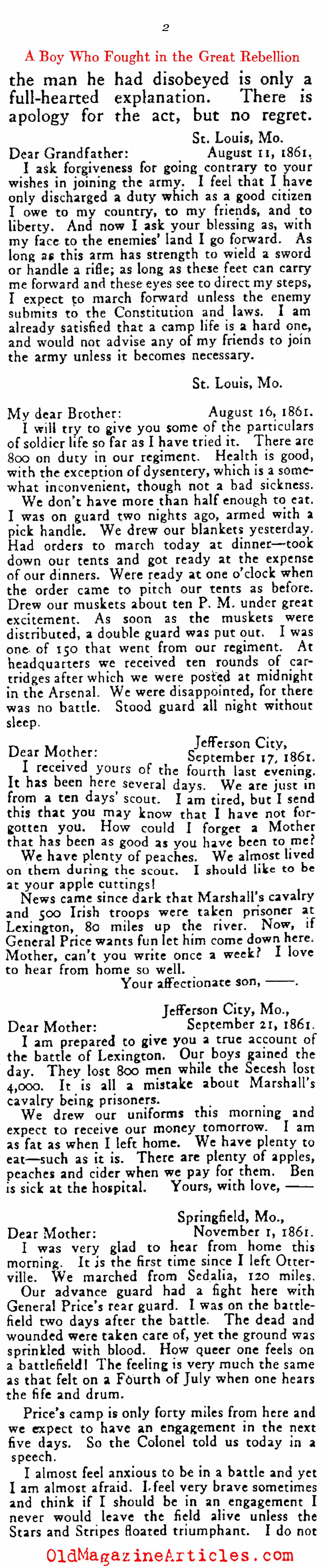 ''How Did it Feel to be a Soldier?'' (Outing Magazine, 1917)