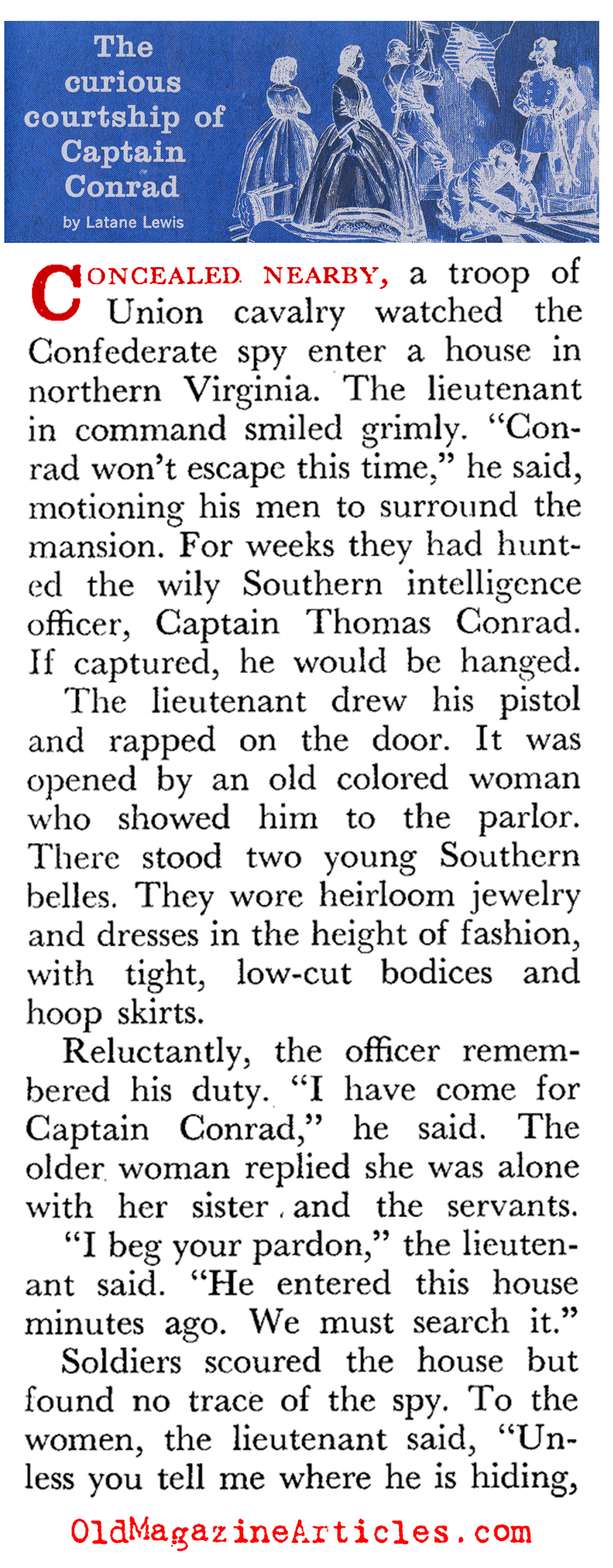 The Life-Saving Capabilities of Victorian Fashion (Coronet Magazine, 1960)