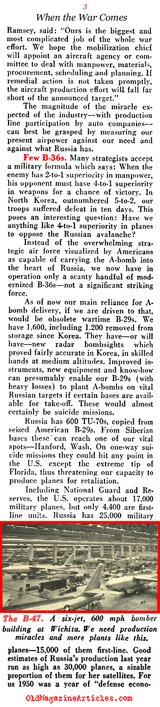 Why America Could Win A War Against Russia (Pathfinder Magazine, 1951)