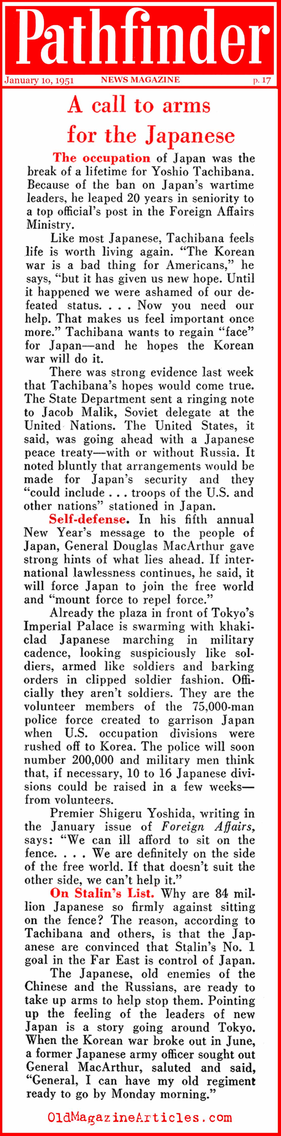 Japan Chipped-In (Pathfinder Magazine, 1951)