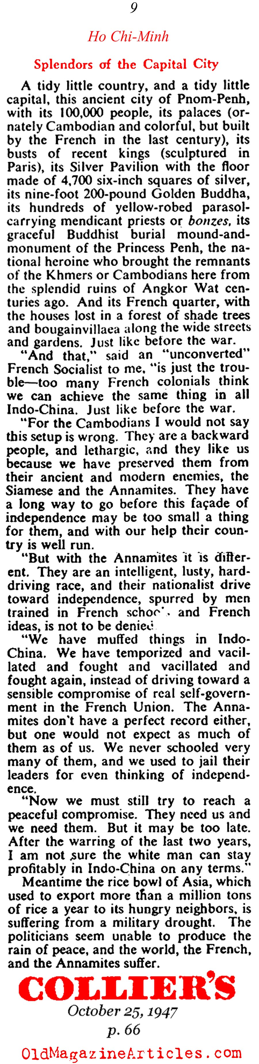 Ho Chi-Minh on the March... (Collier's Magazine, 1947)