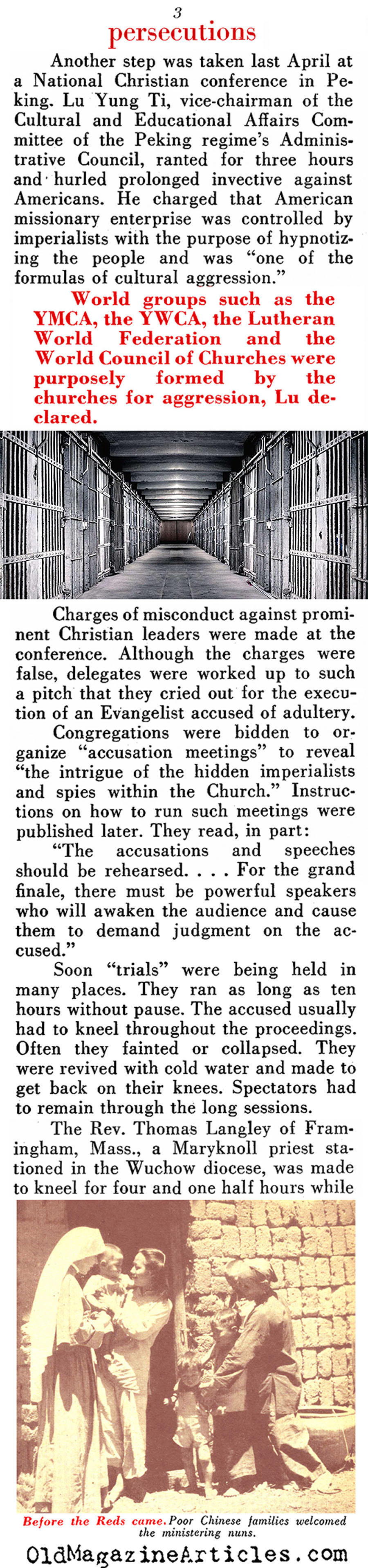 The Persecution of the Christians (Pathfinder Magazine, 1952)
