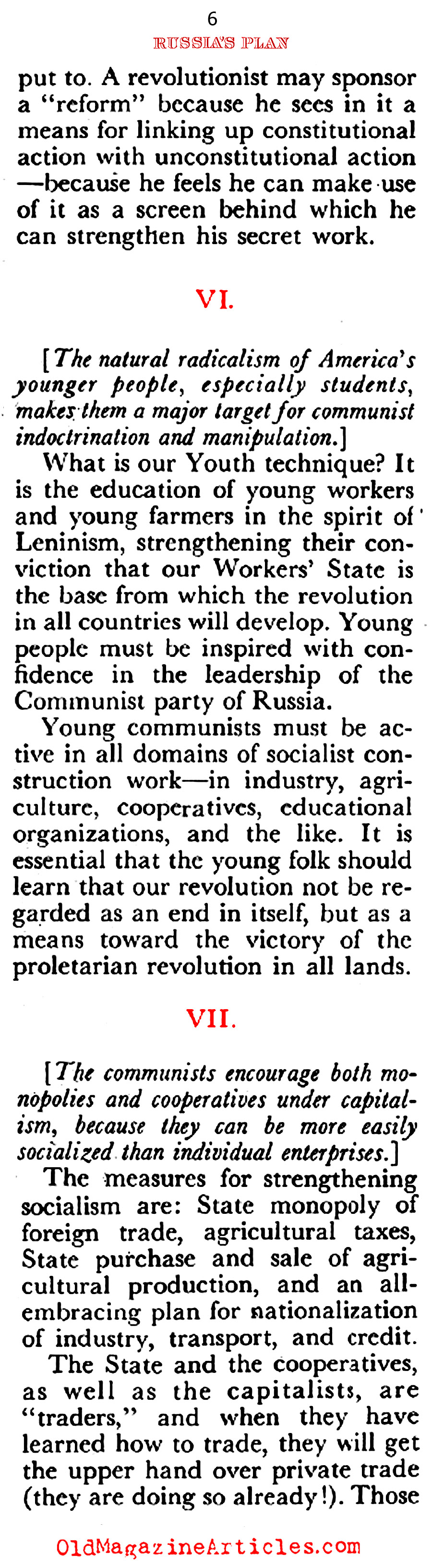 Stalin's Nine Point Plan (Coronet Magazine, 1951)