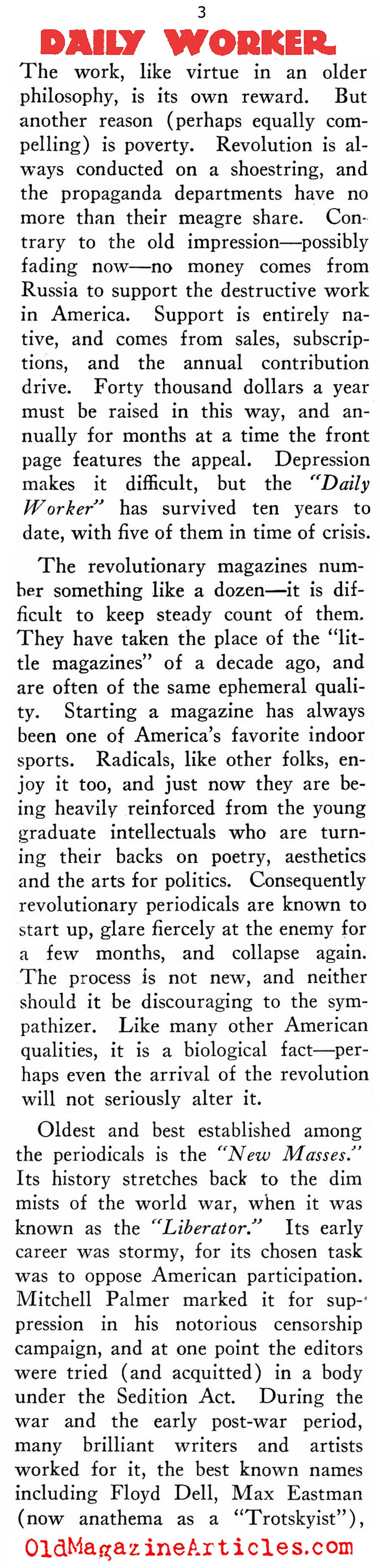The Daily Worker (New Outlook, 1933)