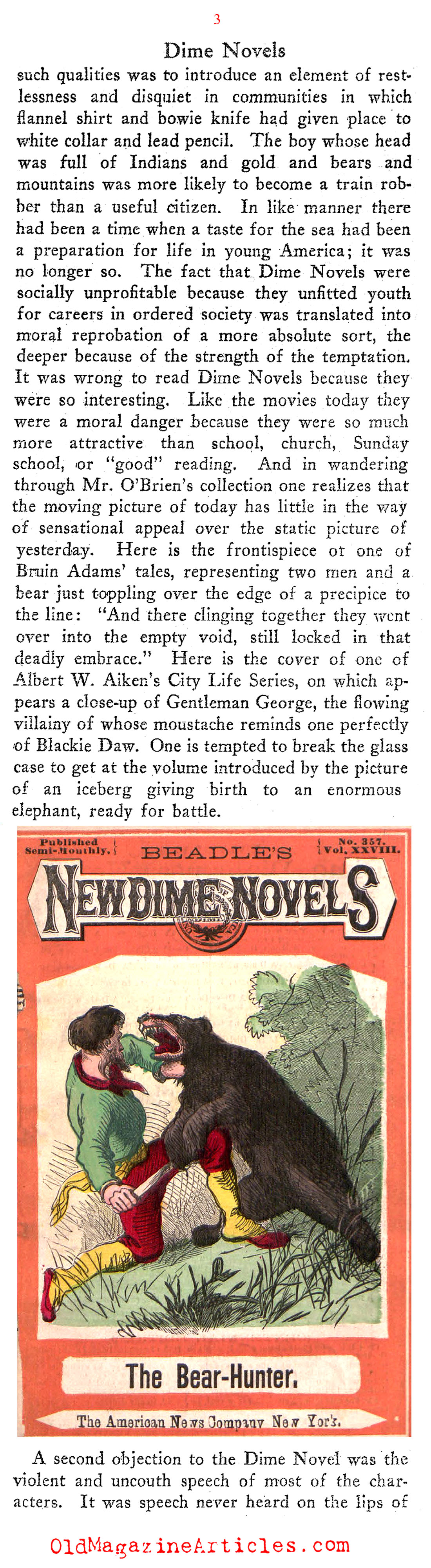 NY Public Library Exhibits Dime Novels (The New Republic, 1922)
