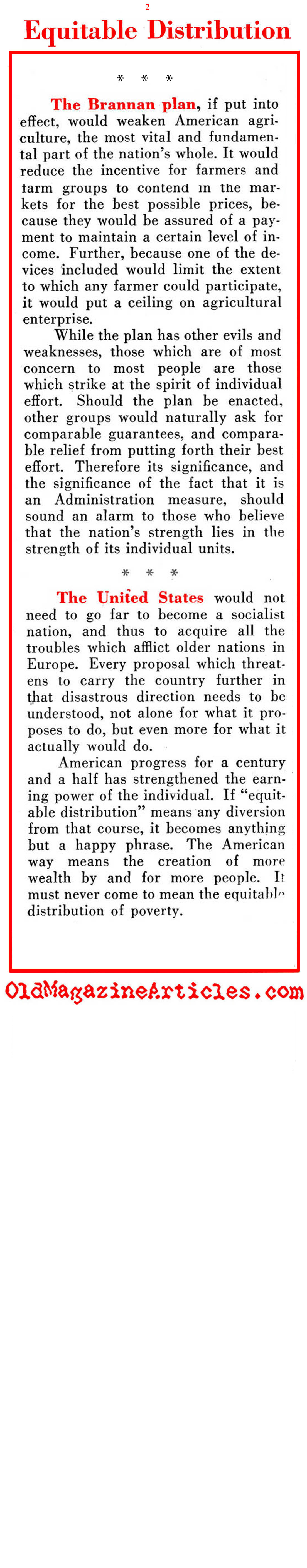 When President Truman Tried his Hand at ''Distributing Wealth'' (Pathfinder Magazine, 1949)