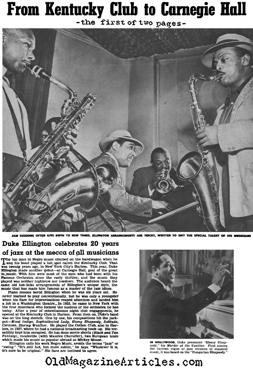 Duke Ellington: Twenty Years in the Spotlight (Click Magazine, 1943)