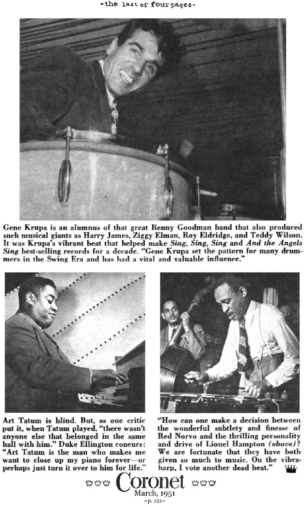 The Musicians Duke Ellington Admired (Coronet Magazine, 1951)