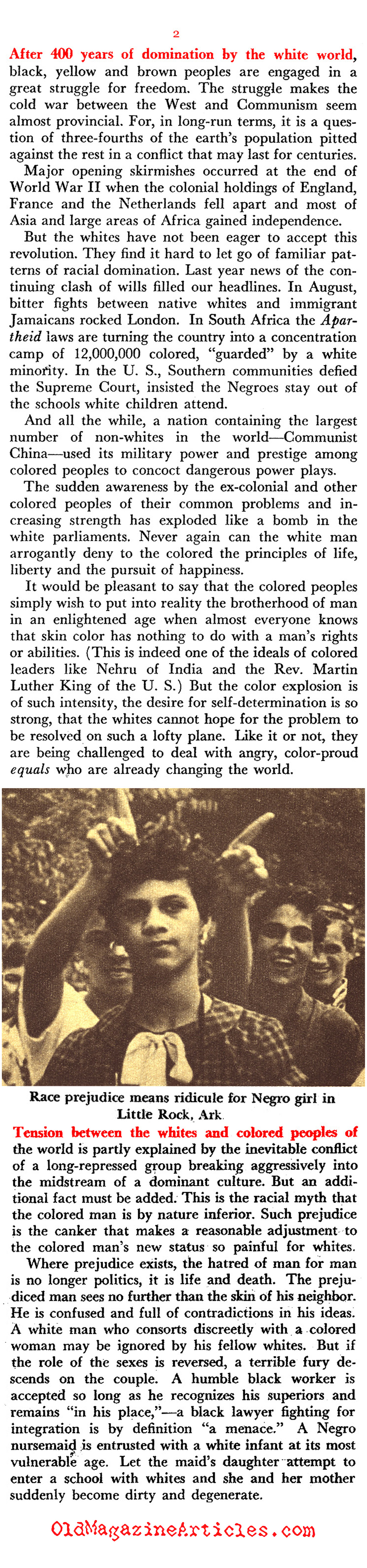 Cold War Politics and People of Color (Pageant Magazine, 1959)