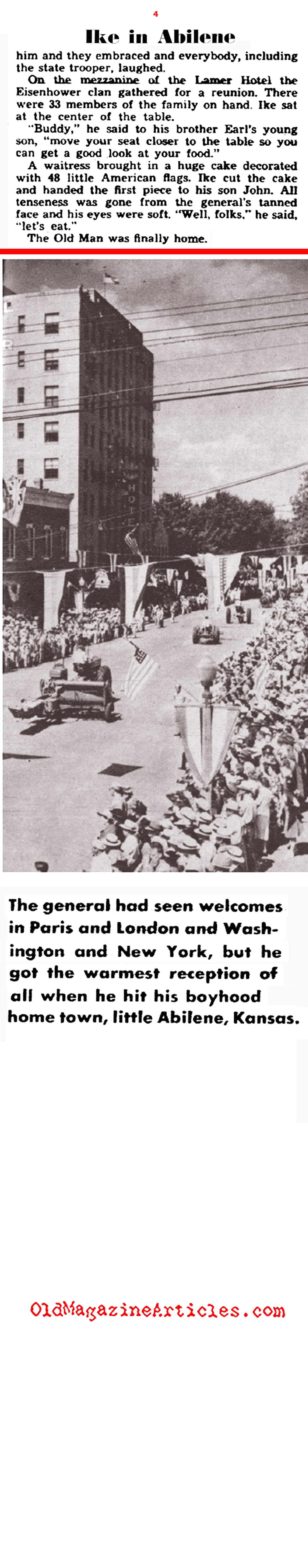 When General Eisenhower Came Home (Yank Magazine, 1945)