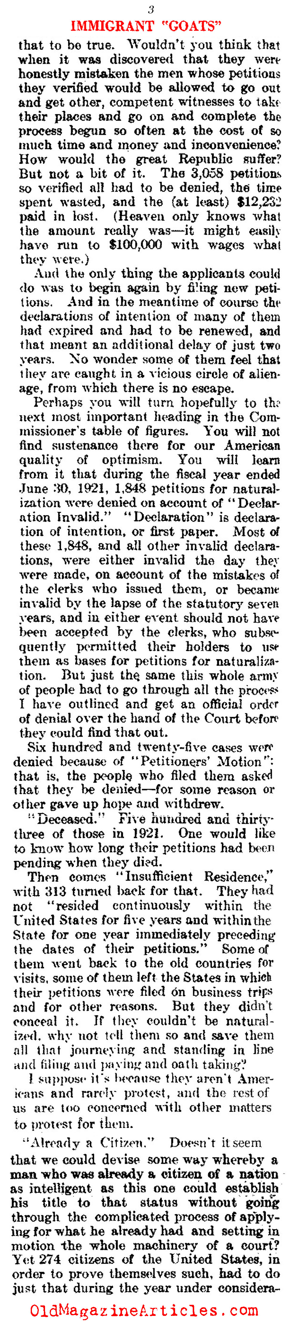 Citizenship Denied  (Literary Digest, 1922)