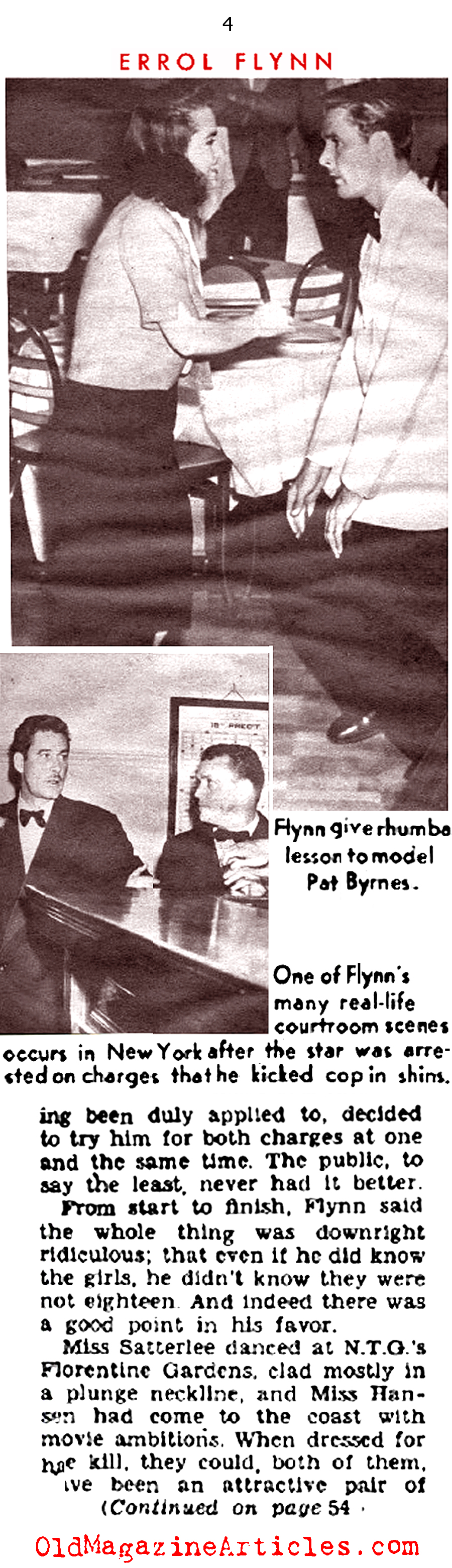 Bad-Boy Errol Flynn (Sir! Magazine, 1954)