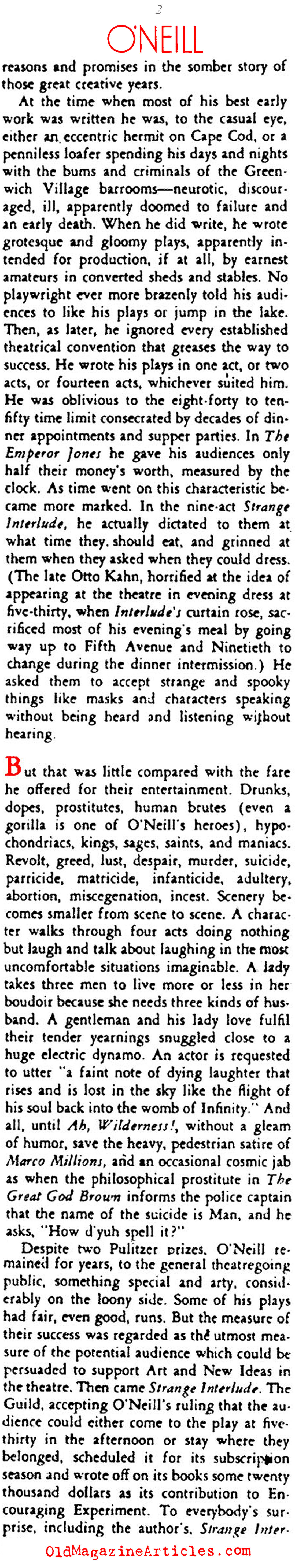 What's Next for Eugene O'Neill? (Stage Magazine, 1935)
