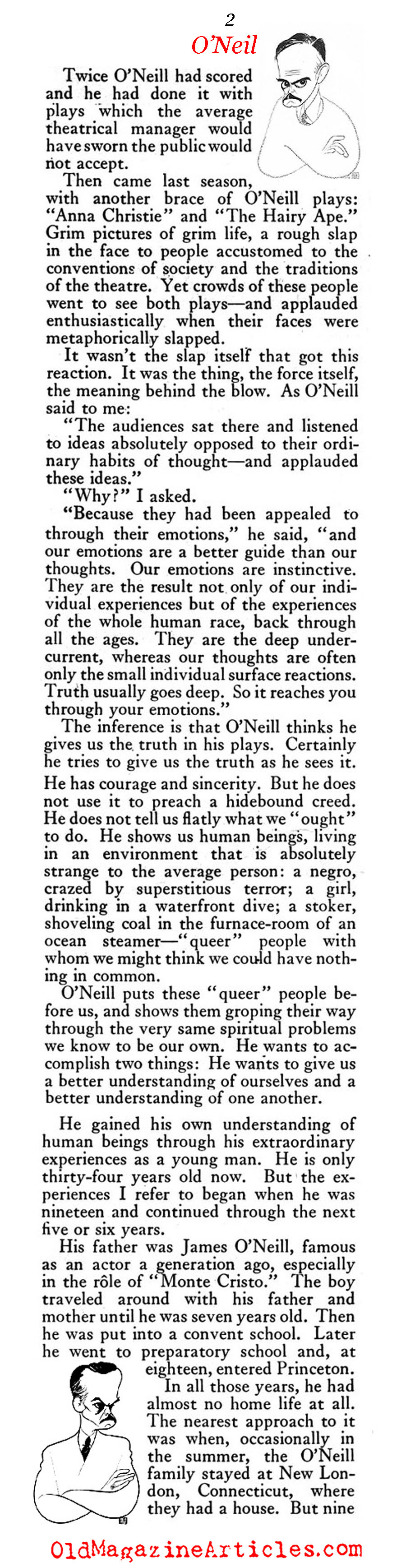 The Extraordinary Story of Eugene O'Neill (The American Magazine, 1922)