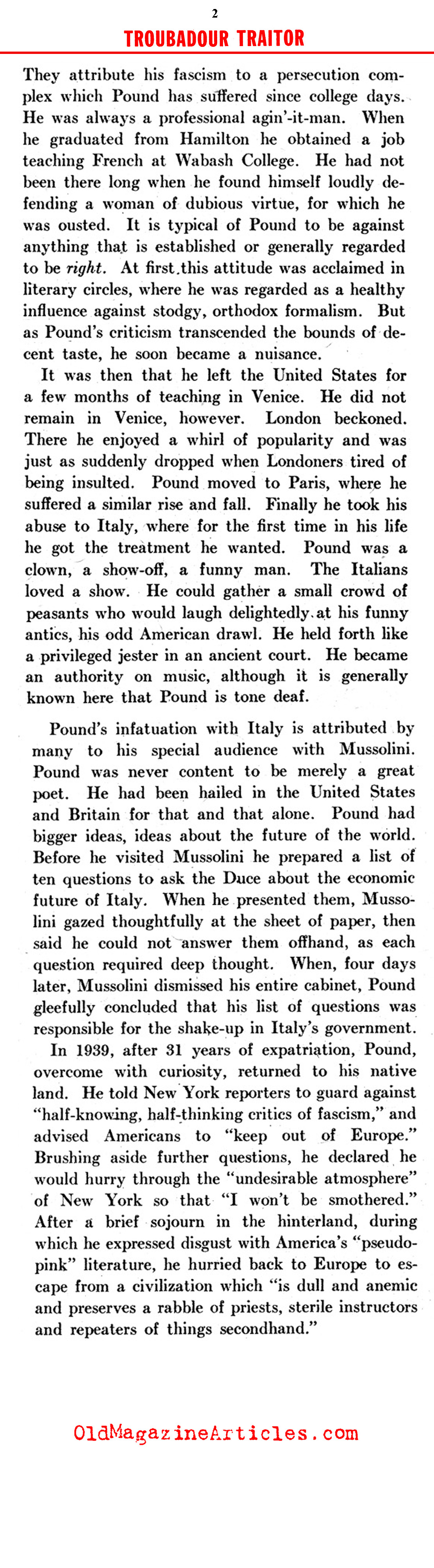 Ezra Pound of Indiana (Click Magazine, 1942)