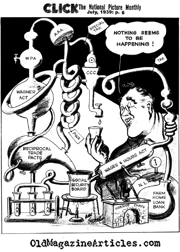 A Cartoonist Slams FDR (Click Magazine, 1939)
