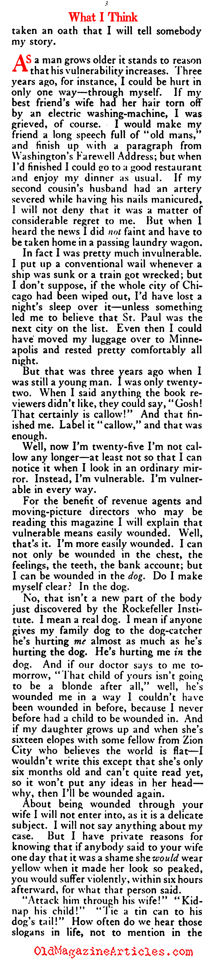 F. Scott Fitzgerald at Twenty-Five (The American Magazine, 1922)