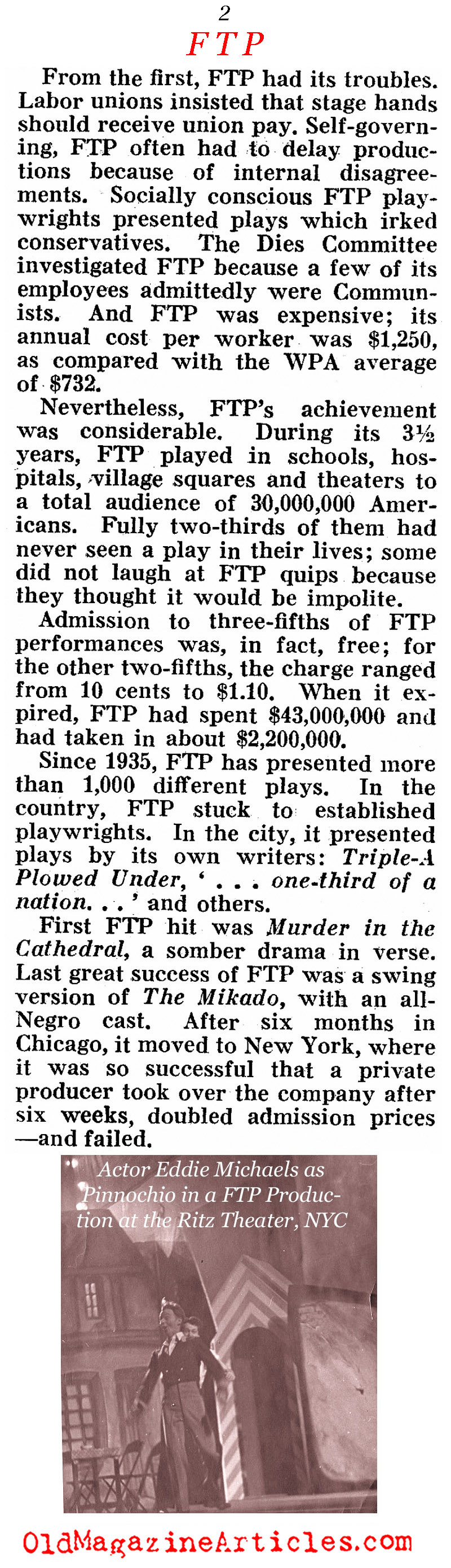 The Federal Theater Project (Pathfinder Magazine, 1939)