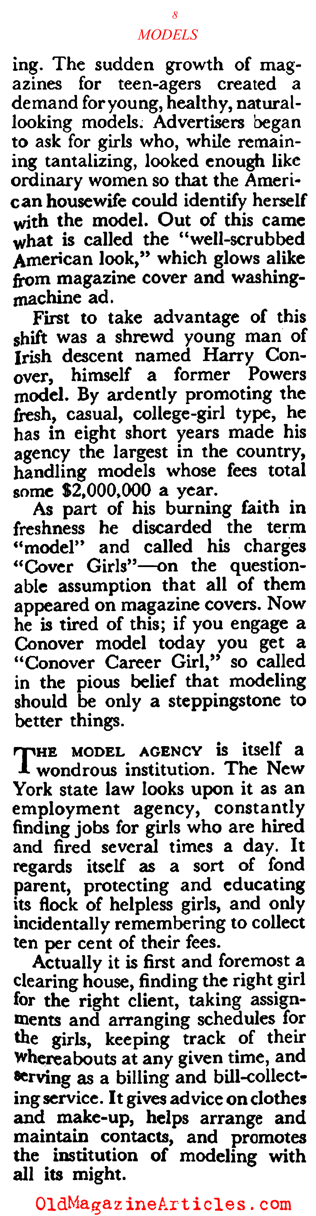 Models Wanted (Coronet Magazine, 1948)