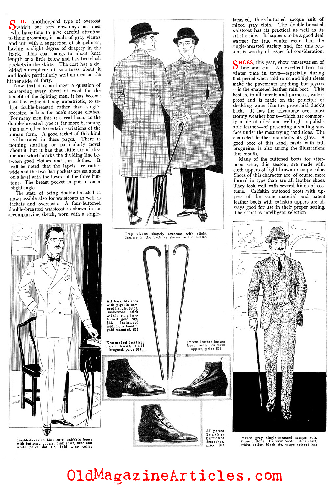 The Well Dressed Man in February (Vanity Fair Magazine, 1919)