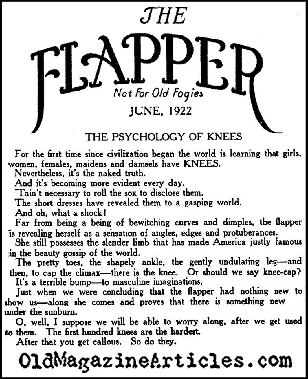 Ode to Feminine Knees (Flapper Magazine, 1922)