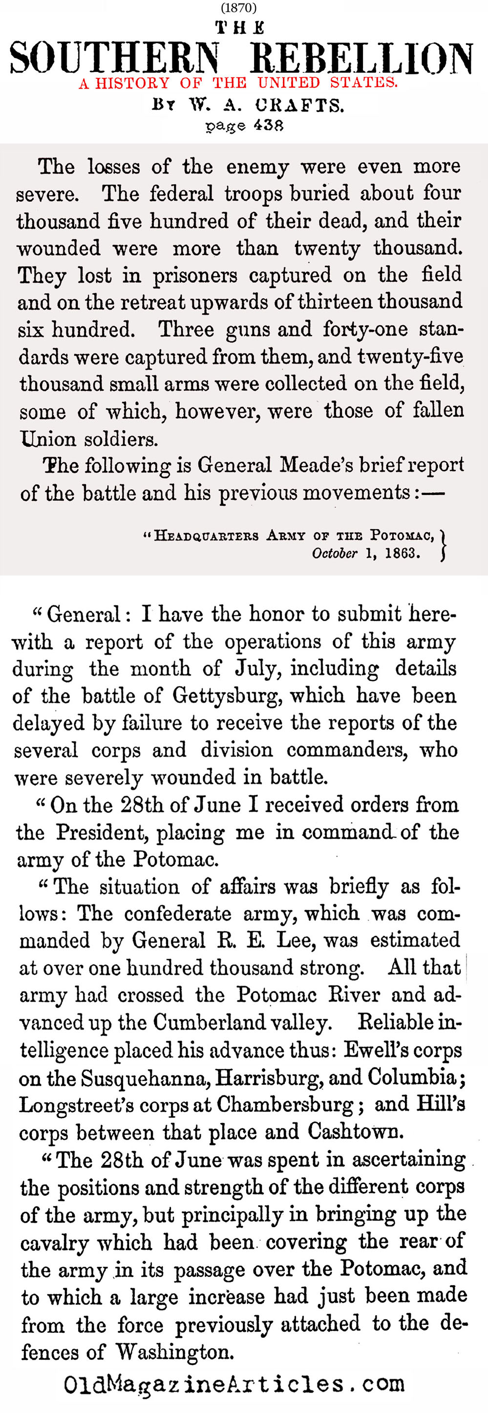 general george meades military career during the civil war Major general george g meade's gordon meade resolved to end his military career as soon as as the pivotal battle of the civil war meade was born.