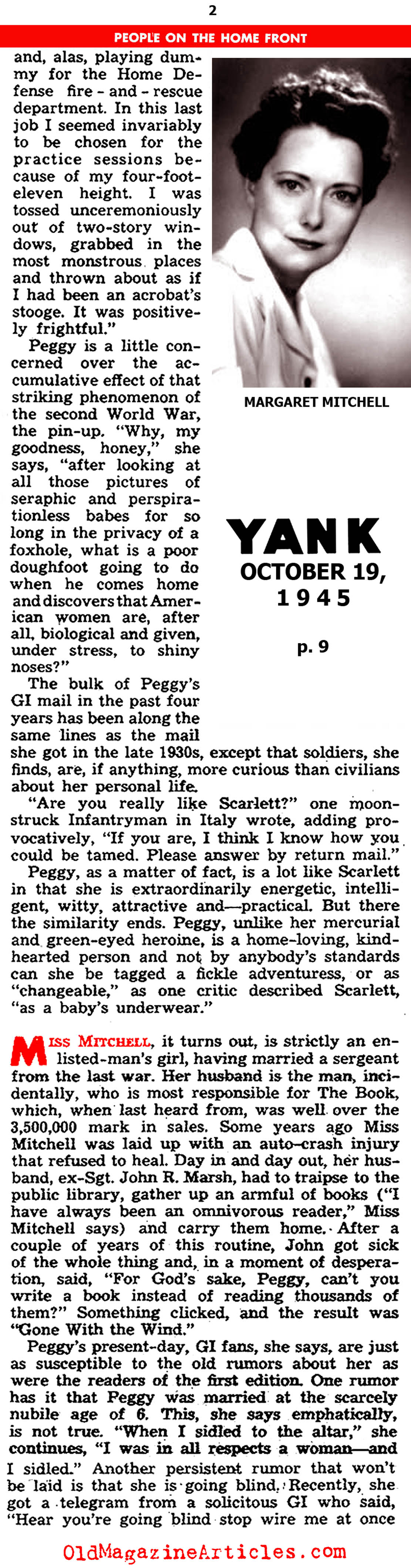 An Interview with the Author  (Yank Magazine, 1945)