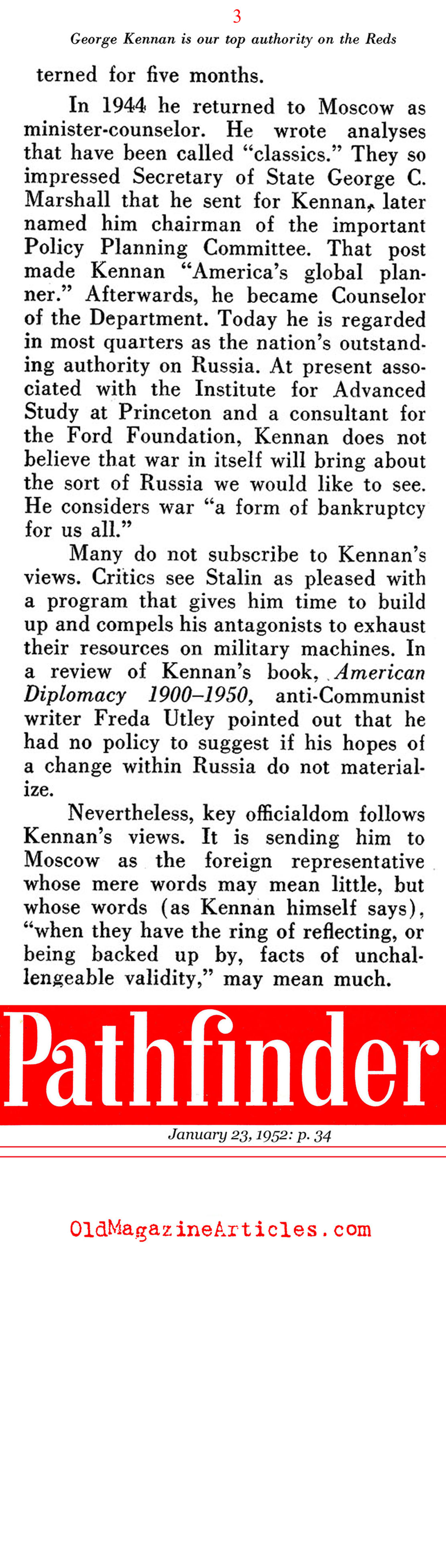 george kennan x article summary The first is george kennan more important for our understanding of the cold war, kennan soon fell out of step with us national security policy.