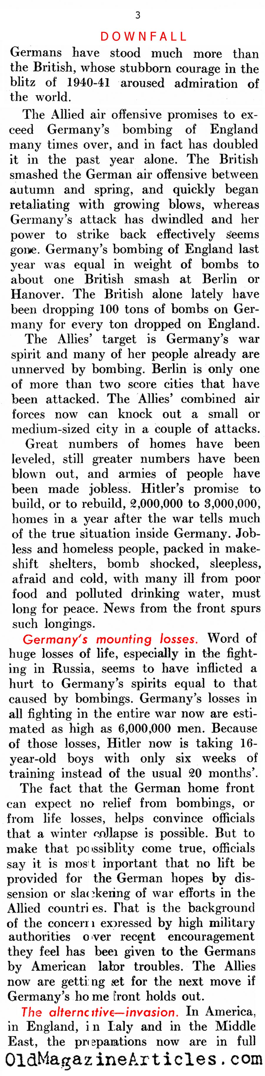 Anticipating Germany's Collapse (United States News, 1944)