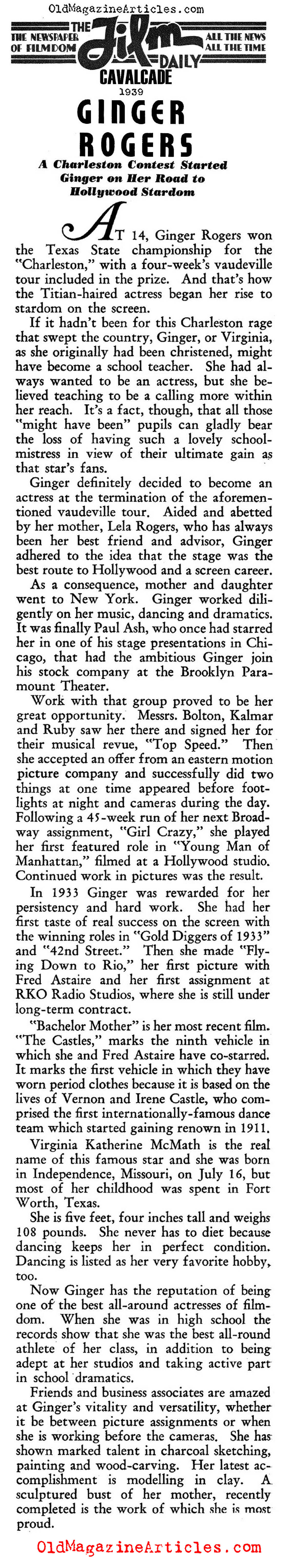Ginger Rogers (Film Daily, 1939)