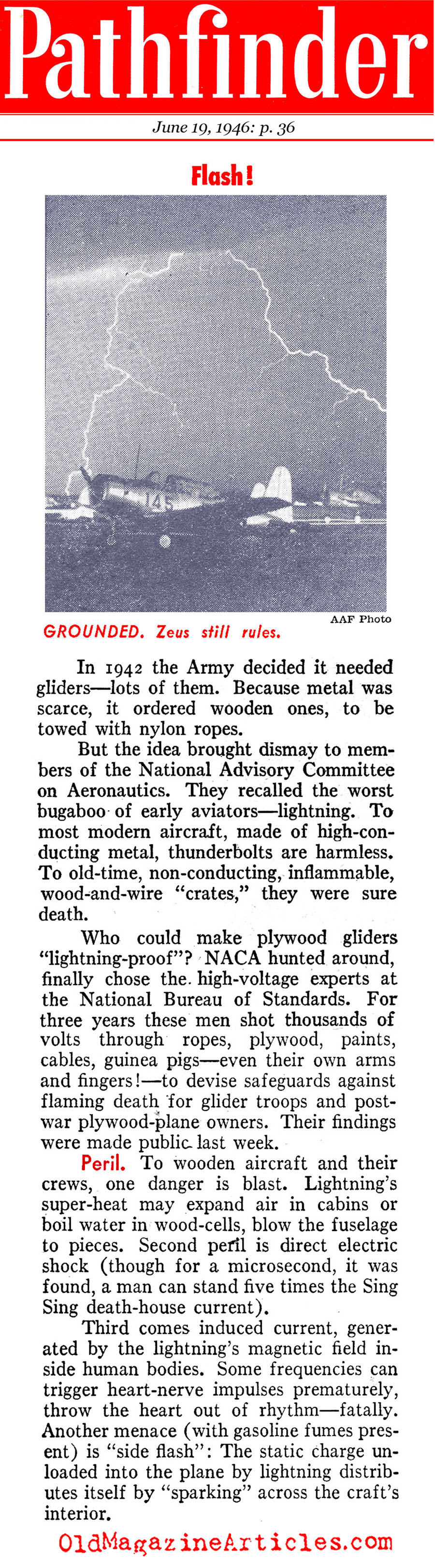 Dealing with Lightning (Pathfinder Magazine, 1946)