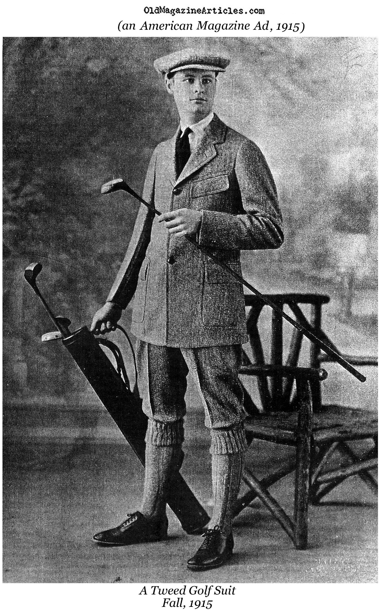 A Look for the Autumn Golfer  (Magazine Ad, 1915)