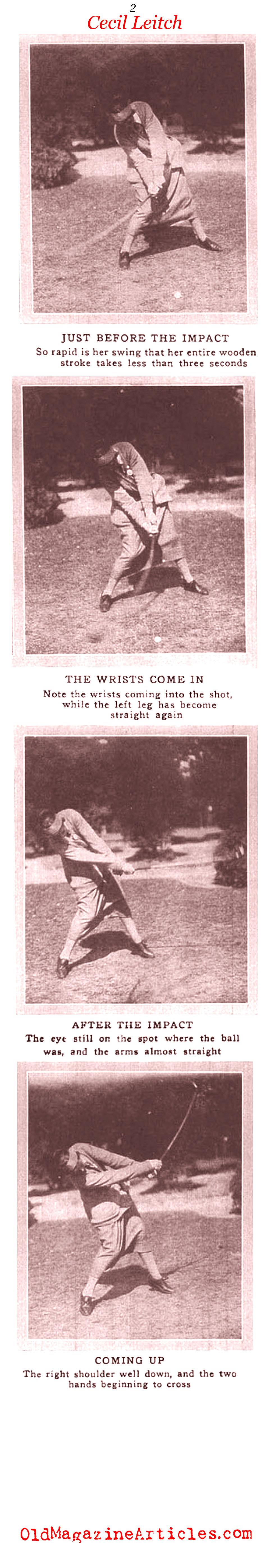 The Swing of Cecil Leitch (Vanity Fair Magazine, 1921)