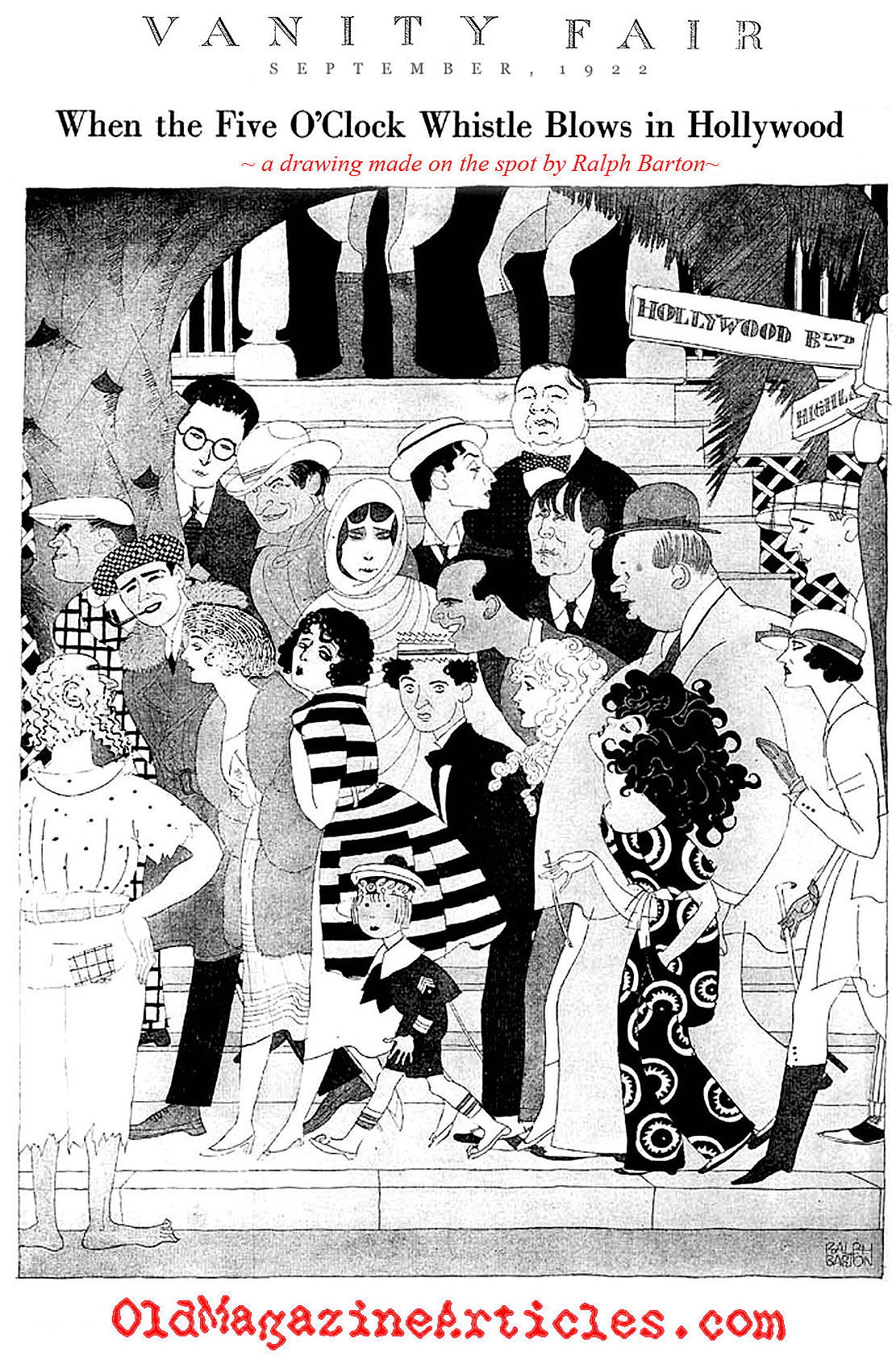 Silent Movie Caricatures (Vanity Fair Magazine, 1922)