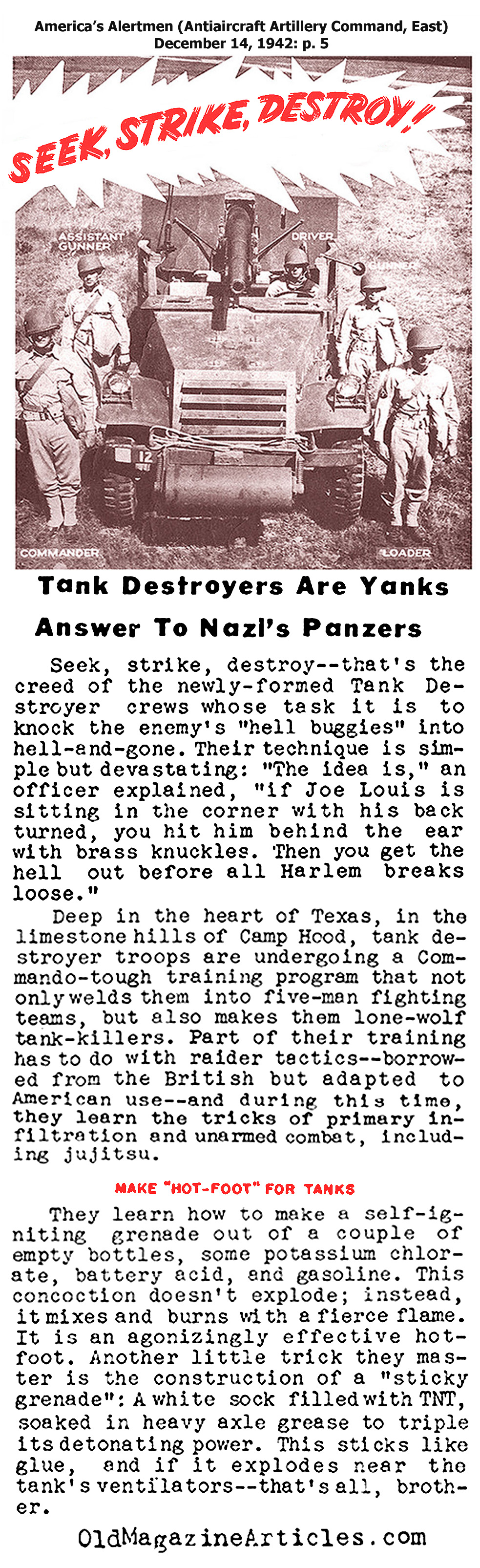 American Tank Destroyers (America's Alertmen, 1942)