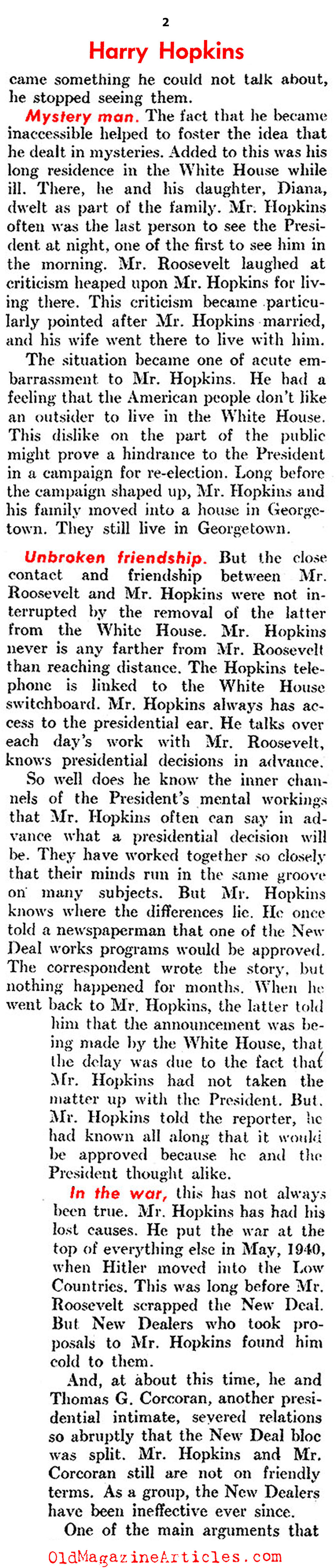 Meet Harry Hopkins (United States News, 1944)
