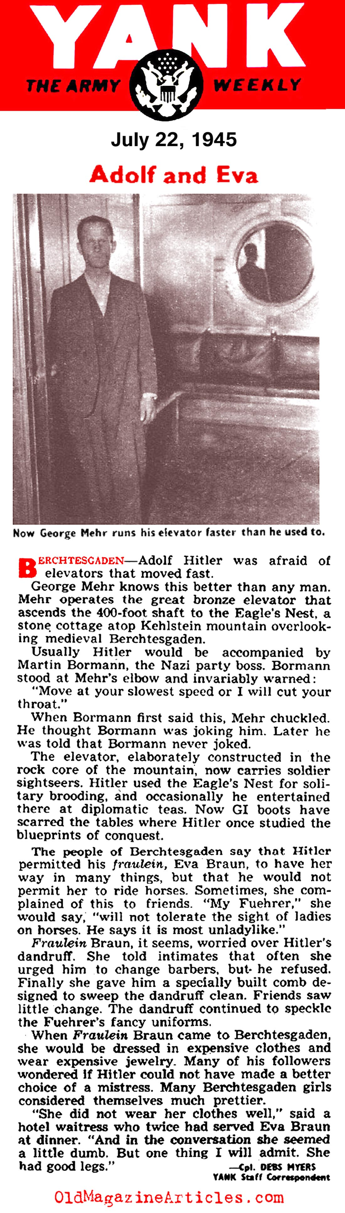 Some Trivial Facts About Hitler (Yank Magazine, 1945)